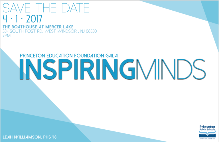 Save The Date: Inspiring Minds – PEF Gala 2017